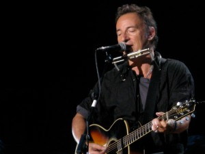 "Bruce Springsteen performs ""The Ghost of Tom Joad"" at Pete Seeger's 90th Birthday Celebration at Madison Square Garden, May 3, 2009"